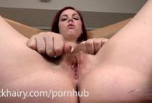 Mary Jane Mayhem demonstrating off that pubic hair