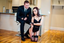 Attractive brunette Lea Guerlin has kinky intercourse together with her attractive guy.