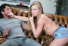 Nicole Clitman taunts her step dad into her hairless vulva.