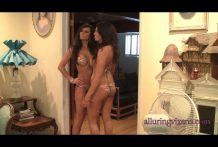Candace & Franchesca in matching swimsuits