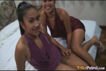 Two horny cock-craving Filipina women sign up for international vacationer for decent threesome