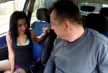 Scorching Teenager Whore Banged in Automotive