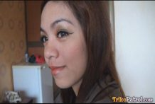 Beautiful doe-eyed Filipina lady joins male vacationer for early resort intercourse romp