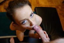 Sexy redheaded Czech slut in pigtails will get fuck on stranger's sofa