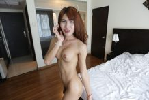 Giant-boobed Asian Ladyboy takes exhausting ass reaming and dribbles cum