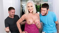 Elegant Katia does two younger studs