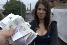 Czech Faculty Lady Outside SEX for Money
