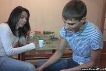 Kitchen intercourse with youngster neighbor