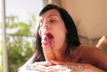 PornPros – Lexi Dona's experienced tongue heads up and down on a hard-on