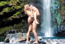 Anikka And Mick's Waterfall Adventure