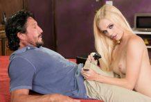 College female Alex Grey impatiently copulates her stepdad