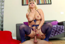 Sensual Golden-haired's Giant Butt Reamed