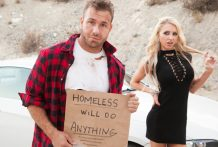 Petite Alix Lynx is dishonest on her husband with a homeless