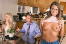 Sizzling nympho Jill Kassidy cuckolds new hubby together with her stepdad