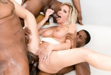 Peter North offers Nadia North a BBC gangbang w/ DP as a present