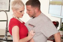 Kimber copulates the plumber. Her husband sees.