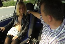 Blonde Boulevard Whore Banged in Automobile
