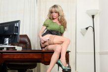 Breathtaking golden-haired secretary