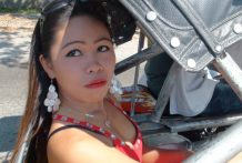 Filipina babe chased down in trike via vacationer and later fucked at resort