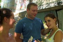 CZECH COUPLES Younger Couple Takes Cash for Public Foursome