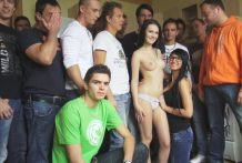CZECH GANGBANG ORGY – Too many cocks for one beautiful chick