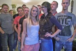 Huge Gangbang with Gorgeous Blonde