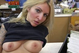 Busty Blonde Must Pay the Hire