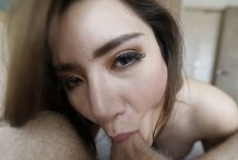 25 yr outdated shy Thai ladyboy sucks off white cock and will get a facial
