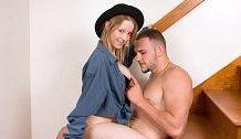 Pregnant Hipster Striptease