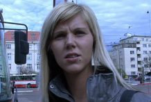 CZECH STREETS – Ilona takes money for public intercourse