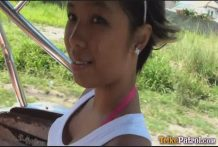 Darkish-skinned Filipina woman Trixie picked up by way of foreigner using Trike himself