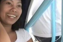 Attractive Filipina bargirl sucks and fucks white stud after jacuzzi bubble bathtub
